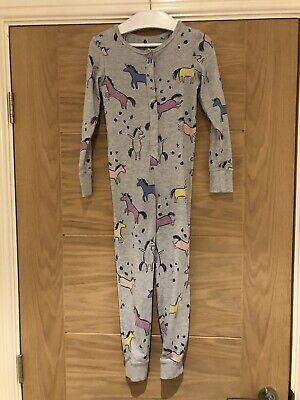 Next Girls Gre Marl Unicorn All In One Pyjamas Age 6