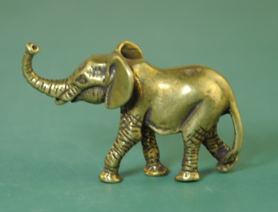Old Chinese Solid Copper Collectible Elephant Pure Manual Vintage Statue Ba01J