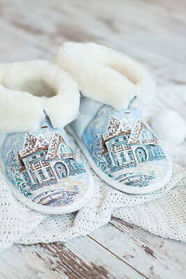 "Russian Fur Slippers Natural Sheepskin ""Winter house"" Чуни BEST QUALITY"