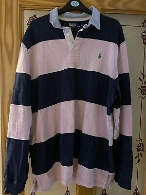 Polo Ralph Lauren Mens Custom Fit Striped Rugby shirt. XL.