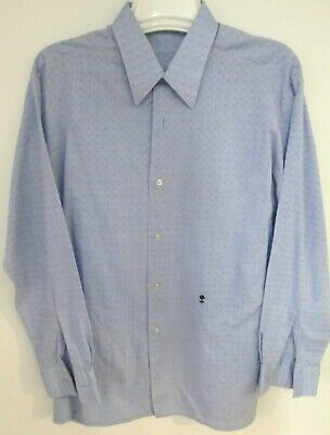 Vintage 1960's German-Made Embossed Baby Blue Shirt VGC 'With the Black Rose' 44