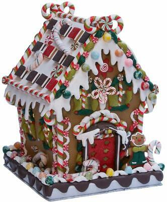 Kurt Adler 8 5/8-Inch Claydough And Metal Candy House With C7 Ul Lighted Decorat