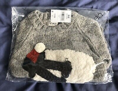Girls/Boys Next Sheep Christmas Jumper Age 3 Years BNWT