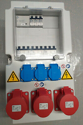 3 Phase Distribution Board + Socket Outlets + Safety Relay
