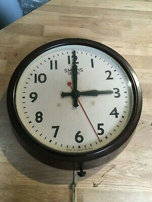 large smiths sectric bakelite school clock