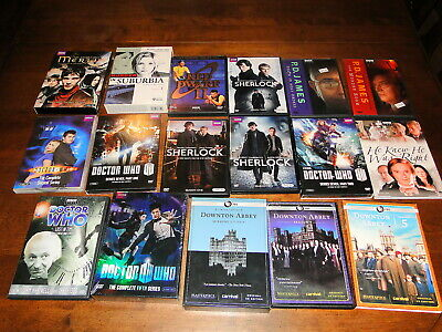 DVD collection lot BBC TV shows sherlock dr who downton abbey red dwarf more