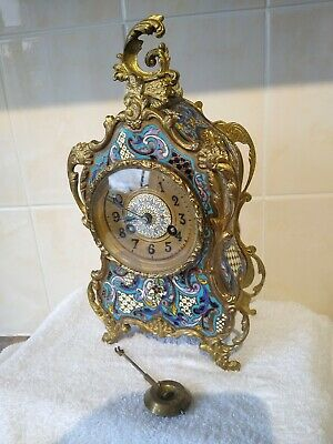 Super Champleve enamel boulle clock by Vincenti