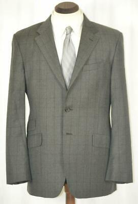 """Perfect PAUL SMITH LONDON """"The Westbourne"""" Flat Front Grey Windowpane SUIT 40 R"""