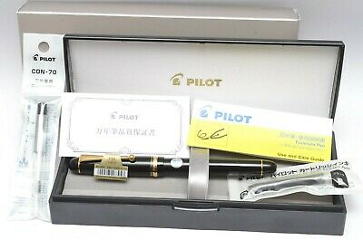 in EU - NEW NUEVA Pilot 74 Fountain Pen FM nib Fine Medium FKK-1000R-B-FM pluma