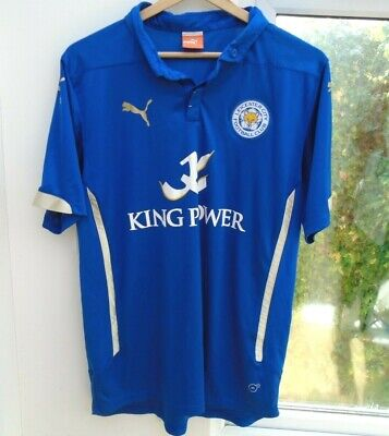 Leicester City 2014-2015 Home Puma Football Soccer Shirt Jersey Top Large Adult