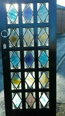 Victorian Stained Glass Front Door Period Old Reclaimed Antique Lead