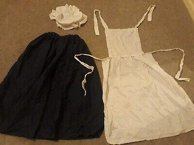 Girls Dressing Up Outfit Victorian Maid Etc Approx Age 11 Years