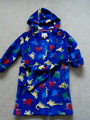 Joules Age 5-6 Plush Dinosaur Dressing Gown With Hood/Belt. Excellent Condition