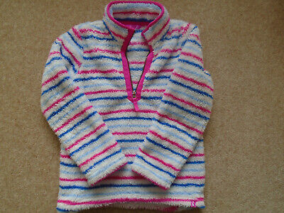 Joules Girls Age 9-10 Jumper / Fleece Striped In Excellent Condition