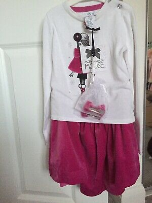 Girls American Designer Winter Outfit & Hair Clips Age 3-4 BNWT