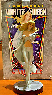 "Bowen White Queen Emma Frost Painted Statue 12"" X-Men Modern Version"
