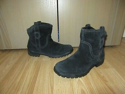 Womens TIMBERLAND Earthkeepers Black Suede Ankle Boots Fleece Lining UK 4 GREAT