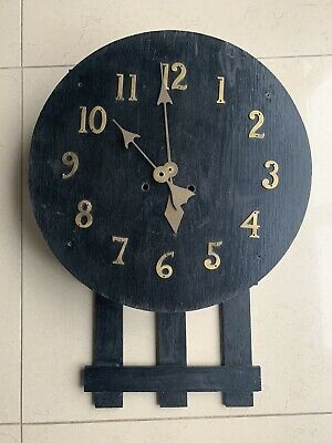 Antique Art And Crafts Wall Clock For Restoration