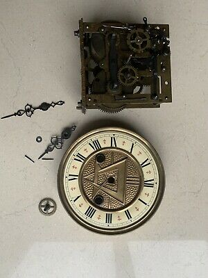 Antique German Art And Crafts Clock For Redtoration
