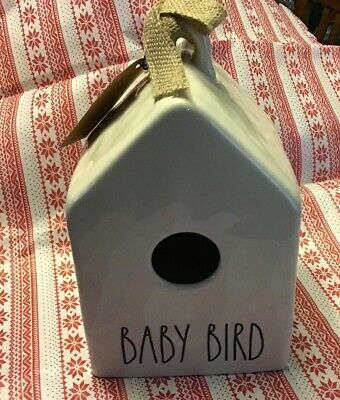 "NEW RAE DUNN CERAMIC ""BABY BIRD"" BIRDHOUSE LL Farmhouse Lots Of Dimples VHTF"