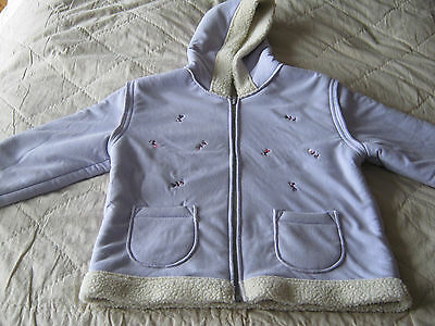 Marks & Spencer Girls Jacket Age 3 4 Years Lilac Used But Still Has Wear
