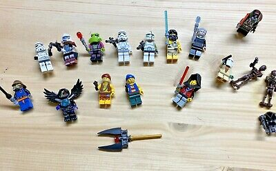 18 Lego Star Wars Figuren Darth Vader, Snow Trooper, Droiden Lichtschwerter etc.