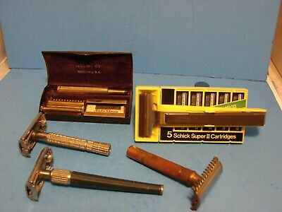 Lot of vintage safety razors and other razor Gillette Valet Auto Strop Schick
