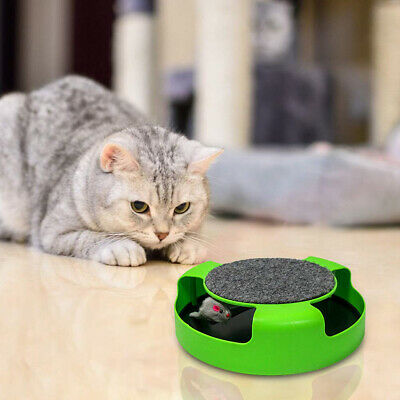 Cat Person Lover Automatic Cats Turntable Toy Pets Interactive Roulette Toys