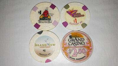 Six Casino Chips From Mississippi & Bahamas
