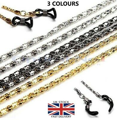 Glasses Necklace Holder Metal Chain Thick Braided Link dg-00612-3c -60cm- No1