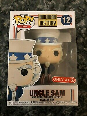 Funko Pop! Icons: American History Uncle Sam #12. TARGET EXCLUSIVE! LAST ONE!