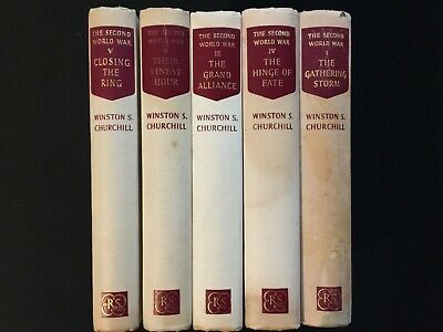 Winston Churchill, The Second World War, all five volumes
