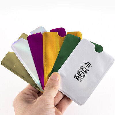 10 RFID Credit Card Blocking Sleeve Secure Protector Anti Theft Scan Wallet Case