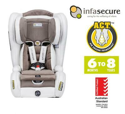 Infasecure Evolve Vogue Convertible Kid Infant Baby Car Seat 6mth - 8years Ivory