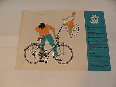 Old Brochure with Diamond Bike Bicycle