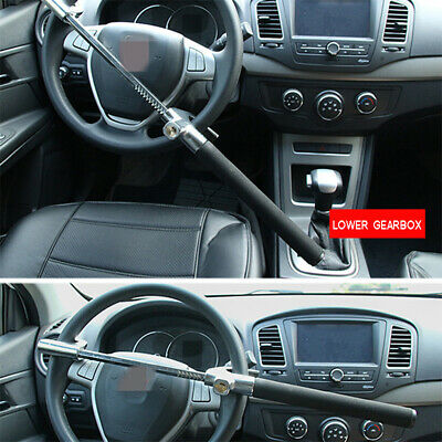 Extendable Double Hook Telescopic Steering Wheel Lock Anti Theft Car Truck