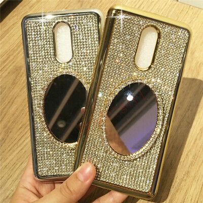 Bling Diamond Mirror Glitter Plating Silicone Case Cover For LG Q Stylus Alpha
