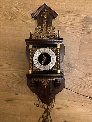 Vintage-Nu-Elck-Syn-Sin-Wall-Clock- Dutch wall clock as not working for parts
