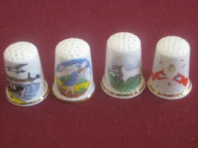 Collectables Birchcroft  Thimbles x 4 Themes