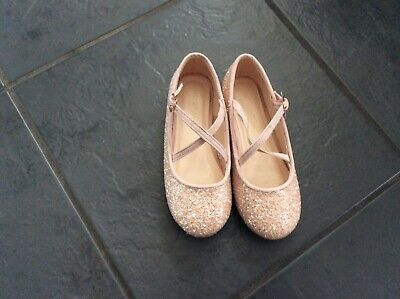 Monsoon beautiful pink glittery party shoes size 29 size 11 worn once