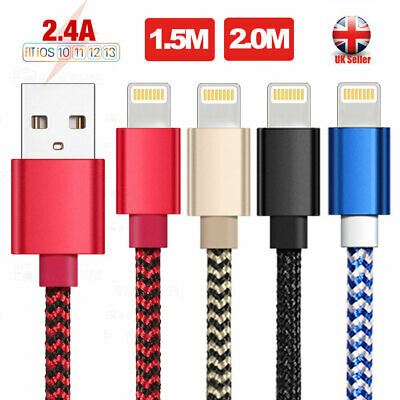 Heavy Duty Metal Braided Lightning USB Charger Cable 1/2M For iPhone 11 X 7 Lot