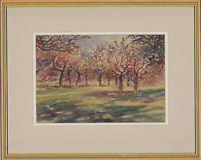 Henry E. Foster (1921-2010) - Signed & Framed 1981 Watercolour, Kent Orchard