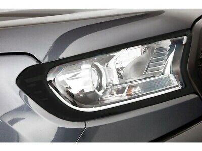 Ford Ranger 2016 On Head Lamp Garnish - Matt Black Finish
