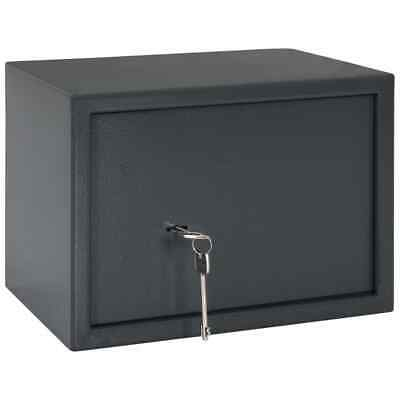 vidaXL Mechanical Safe Dark Grey 35x25x25cm Steel Office Security Stash Box#