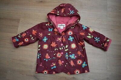 Baby Girls Hatley Age 12-18 Months Winter Rain Coat Little Bird Print