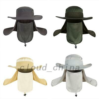 Foldable Outdoor Sun Protection Fishing Cap Neck Face Flap Hat Wide Brim Camping