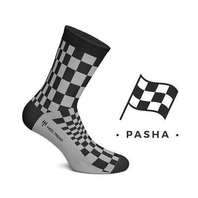 Heel Tread Socken – Pasha black/grey