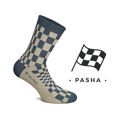 Heel Tread Socken – Pasha navy/tan