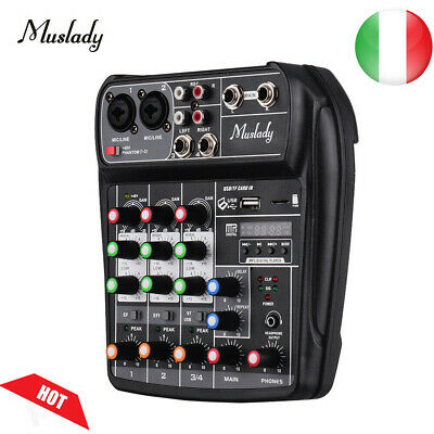 Muslady Console Di Missaggio Mixer Audio Digitale Bt Mp3 Ingresso Usb K1D5