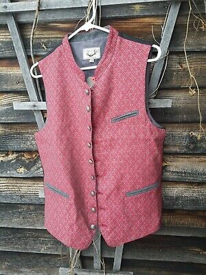 Stockerpoint Traditional Costume ~ WAISTCOAT VEST 44 Red Bavarian NWT Rico RED ~